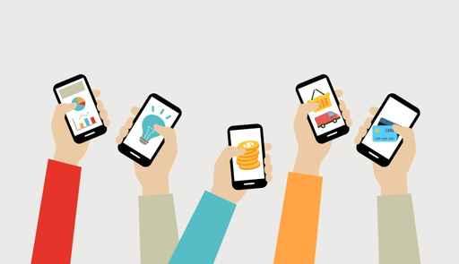 手机app推广矢量图